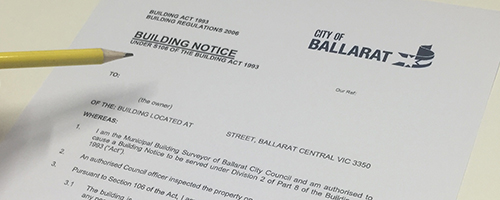 Building Surveying - Authority Notices Advice
