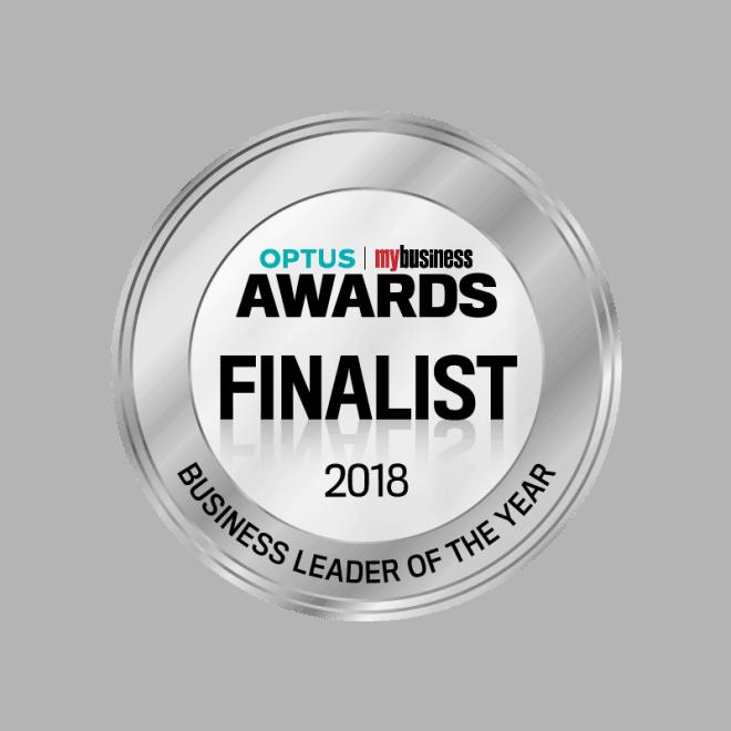 Optus Awards - Business Leader Seal